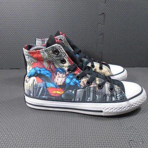 Youth Sz 2 Converse Superman High Tops